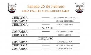 SABADO 25 DE FEBRERO, GRAN FINAL